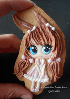 galleta niña con lacitos